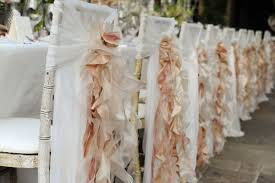 gold chair covers gold ruffly wedding chair covers