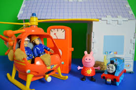 peppa pig episode fireman sam play doh helicopter clean