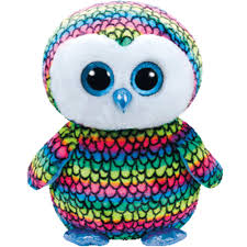 ty beanie boos large aria rainbow owl claires exclusive boo