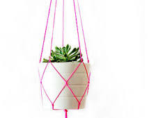 Simple Macrame Plant Hanger - simple modern macrame plant hanger 42 inches pink