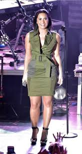 dress olive green demi lovato sandals platform sandals