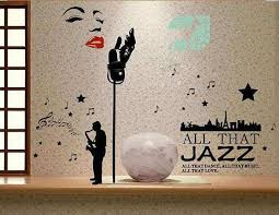 jazz home decor all that jazz home decor wall decal home decor wall stickers