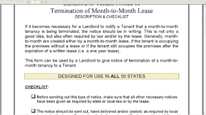 notice of termination of month to month lease youtube