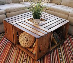 middle table living room she put four wooden crates in the middle of her living room and it