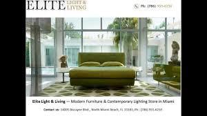 Elite Light  Living  Modern Furniture Store Miami FL YouTube - Modern furniture miami
