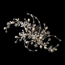 bridal hair combs swarovski and freshwater pearl wedding hair comb