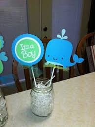 whale themed baby shower 6 whale centerpiece sticks whale table decor whale baby shower
