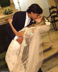 third marriage wedding dress fashionista helena bordon holds third wedding in st