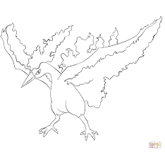 moltres coloring free printable coloring pages