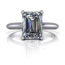 emerald cut solitaire engagement rings russian brilliants emerald cut solitaire engagement ring