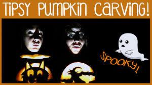 halloween pumpkin carving while drunk stabbing pumpkins u0026 all the
