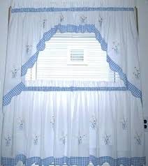kitchen curtains blue inch kitchen curtains blue and white