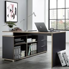 bureau d angle bureau d angle gris et bois mateo