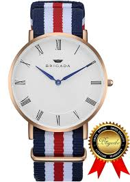 brigada swiss watches minimalist waterproof business casual quartz