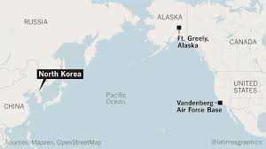 Alaska And Russia Map by Can The U S Defend Against A North Korean Missile Strike La Times