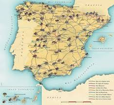 The Map Of Spain by Map And Routes The Paradores Of Spain All Europe Accommodation