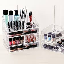 acrylic makeup organizer large acrylic makeup organizer the