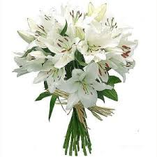 white lilies send flowers to mumbai flowers to mumbai online lilies