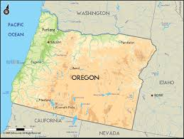 map of oregon geographical map of oregon and oregon geographical maps