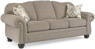 traditional sofas with skirts flexsteel bexley traditional sofa with nail head trim wayside