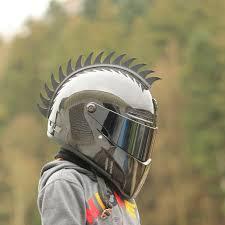 motocross helmet mohawk amazon com moto loot helmet mohawk for motorcycles sportbikes