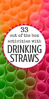 33 out of the box activities with drinking straws for kids toy