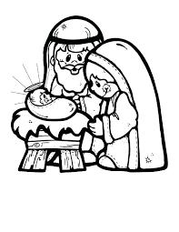 nativity scene coloring pages eliolera com