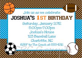 Invatations Sports Birthday Invitations Sports Birthday Invitations Combined