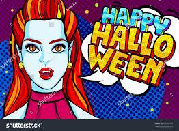 halloween illustration vampire red hair stock vector