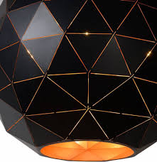 black and white ceiling light shade pendant light geometric light shade black gold white myplanetled