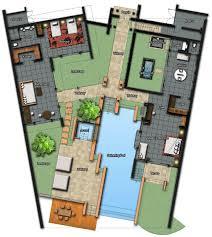 villa plan front three bedroom pool villa at the