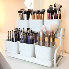 hair and makeup storage ikea socker pot with holder pinteres