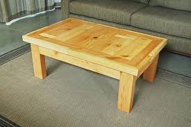 yellow wood coffee table andrew traub studio