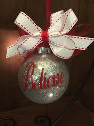 glitter ornament glitter christmas ball believe