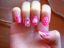 pink designs for nails how you can do it at home pictures