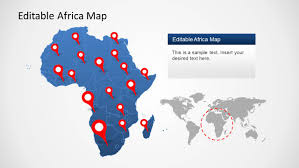 africa map template for powerpoint slidemodel