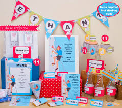 printable climbing party collection creative little parties