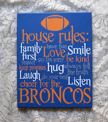 Family House Rules by Football House Rules Painting Hand Painted Canvas Sports Fan Art