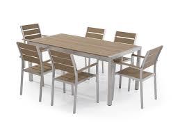 6 Chair Patio Dining Set - aluminum patio dining set brown vernio