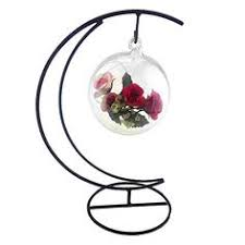 5 9 inch round glass terrarium container bowl pot with led light
