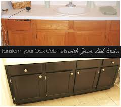 Golden Oak Kitchen Cabinets by Stain Oak Cabinets Espresso With Java Gel Stain General Finishes