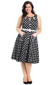arlene plus size polka dot dress