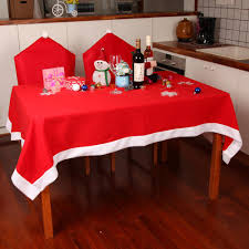 Red Dining Table by Sale Tablecloths Chair Cover Set Christmas Decoration Red