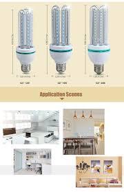 e27 220v 1100lm 6500k smd 2835 led u shape light bulb white 16w