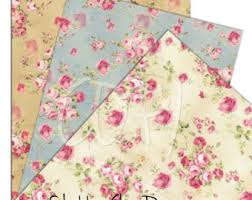 shabby chic wrapping paper shabby chic etsy