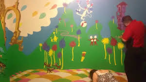 Dr Seuss Nursery Wall Decals by Painting Our Dr Seuss Nursery Part 1 Youtube