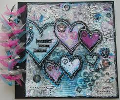 Spiral Bound Photo Album Handmade Valentines Follow Your Heart Mixed Media Photo Scrapbook