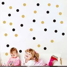 compare prices on dots stickers online shopping buy low price gold polka dots wall sticker baby nursery stickers kids golden polka dots children wall decals home