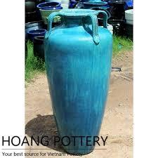 big aqua green glazed ceramic pots hptv052 hoang pottery