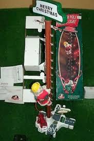 htf mr pole power light stepping santa lineman